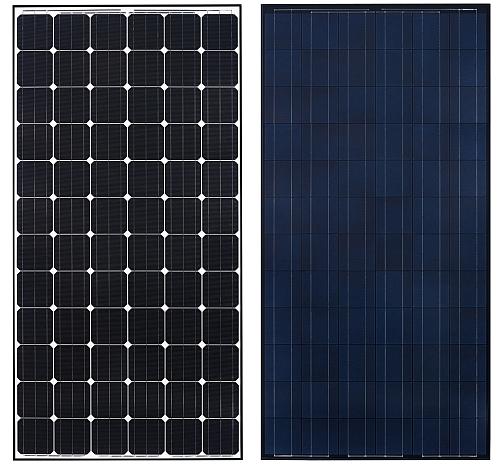 Panneaux photovoltaïques à 72 cellules solaires 300 à 330 Wc