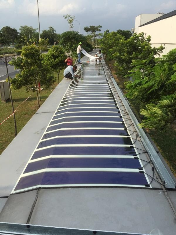 OPV: Heliatek finalise une installation sur aluminium à Singapour