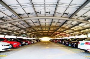 Un carport/ombrière de parking PV de 1,8 MW en Chine