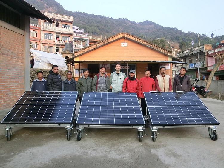 Humanitaire: cinq générateurs solaires de Kyocera pour la reconstruction au Népal