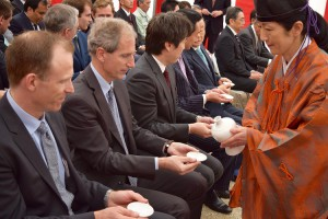 Une cérémonie shinto a marqué le début de la construction de la centrale PV