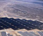 La centrale photovoltaïque au sol avec trackers de 52,5 MW (ac) de Shams Ma'an, réalisée par First Solar en Jordanie.