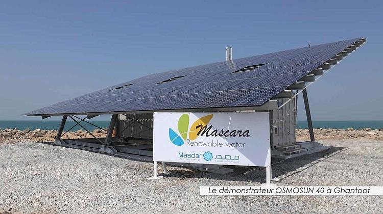 Mascara NT accélère dans le dessalement à l'énergie solaire