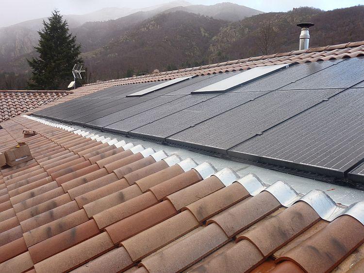 Réalisation: solution PV avec récupération de chaleur à La Souche