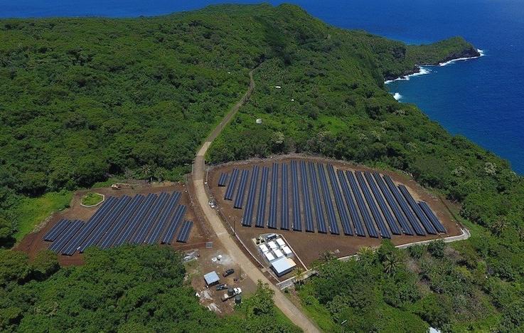 Le solaire apporte l'autonomie énergétique à l'île de Ta'u