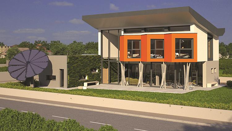 Un toit PV et une Smart Flower pour la maison du futur de MFC