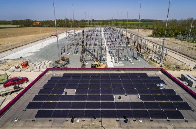 Un poste haute-tension s'alimente à l'énergie solaire aux Pays-Bas