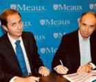 Jean-François Copé, maire de la ville de Meaux, a signé le bail emphytéotique avec Gauthier Fanonnel, représentant la société Langa Solar.