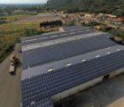 La 200e centrale photovoltaïque en toiture réalisée par la PME bretonne Langa inaugurée dès juin 2017 à Mornas dans la Drôme: 13200 m2 de panneaux pour une puissance de 1,5 MWc.