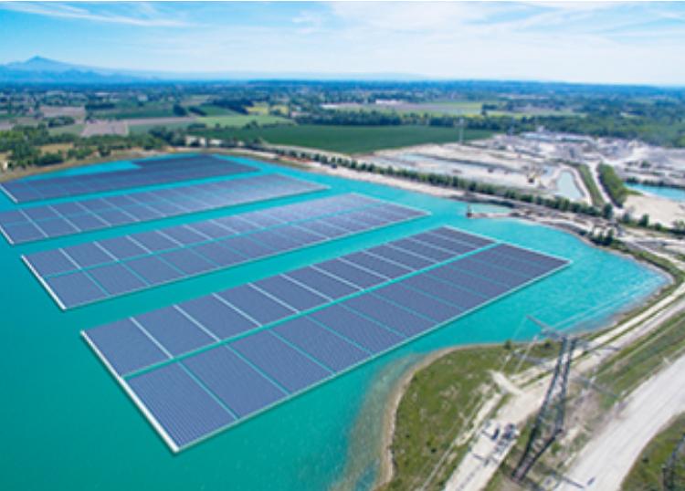 Akuo Energy construit une 1ère centrale solaire flottante en France