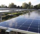 La centrale photovoltaïque de 5 MWc de Lamagistère (Tarn-et-Garonne). Photo : Sun'R