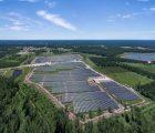 La centrale photovoltaïque de Brach, dans le Médoc, en chiffres: 11,6 MWc, production annuelle prévue de 14 GWh, 21 ha, développée en 2009-2010, construite en 2016, investissement de 15 M€.