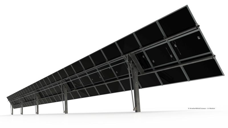 ArcelorMittal Projects Exosun dévoile un tracker solaire à un axe de haute fiabilité