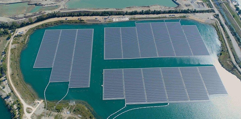 A Piolenc, 17 MWc de solaire flottant sont désormais opérationnels