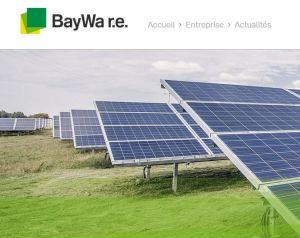 BayWa r.e. construira les parcs photovoltaïques Blueberry dans l'Indre