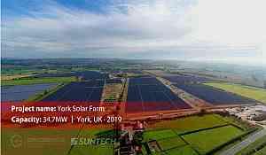 Suntech fournit 34,7 MW de modules PV d'une ferme solaire en Grande-Bretagne