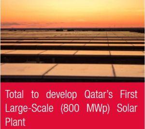 Total construira la première centrale solaire de très grande envergure (800 MWc) du Qatar
