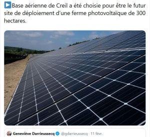 Photosol va installer 180 hectares de panneaux solaires sur la base aérienne de Creil