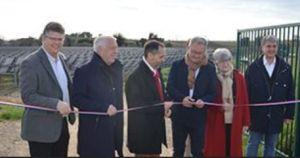 Total Quadran inaugure la première centrale solaire avec trackers sur un bassin de rétention en Occitanie