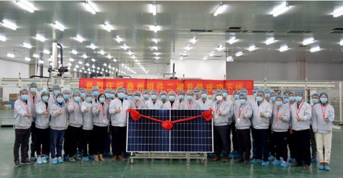 La nouvelle usine 5GW de modules PV de LONGi fonctionne à pleine capacité