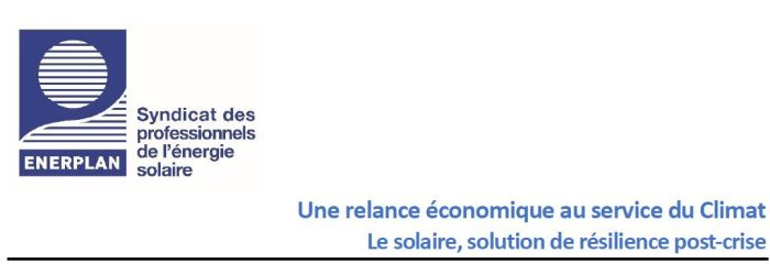Enerplan propose une relance économique au service du climat via le solaire