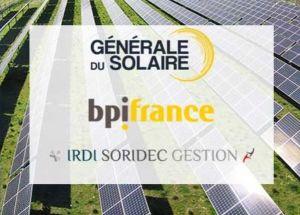 Le groupe Générale du Solaire ouvre son capital à Bpifrance et Irdi Soridec Gestion