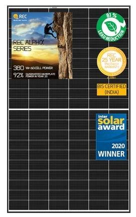 REC Group remporte le prix Intersolar 2020 pour ses panneaux solaires Alpha