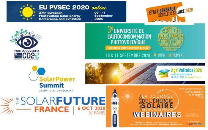 Agenda du solaire : tous virtuels … ou presque