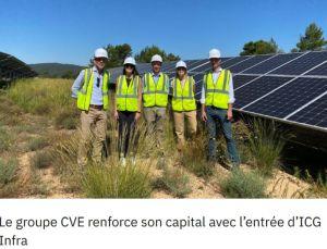 ICG Infra investit 100 millions d'euros dans le groupe CVE