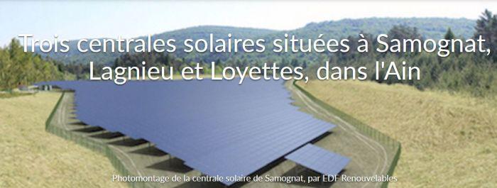 EDF Renouvelables lance une campagne de financement participatif pour trois centrales solaires dans l'Ain