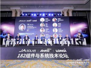 JA Solar, Jinko et LONGi promettent 54 GW de capacité de production de modules 182 mm dès 2021