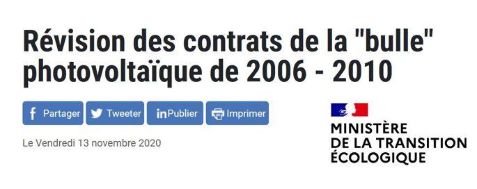 Révision des contrats 2006 – 2010 : le gouvernement tente de s'expliquer