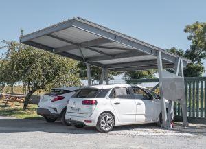 Carport photovoltaïque pour l'autoconsommation et la mobilité électrique | Eklor
