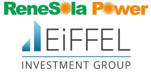 ReneSola Power et Eiffel Investment Group créent une coentreprise pour financer le développement solaire en Europe