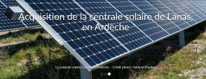 Dhamma Energy lance un financement participatif de 1,4 M€ pour une centrale PV en Ardèche