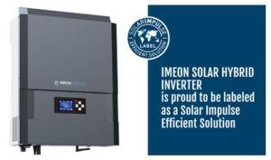 Imeon Energy obtient le label Solar Impulse