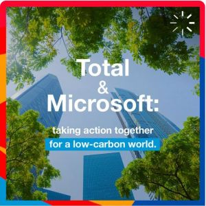 Total et Microsoft s'associent pour soutenir l'innovation digitale et leurs objectifs de neutralité carbone