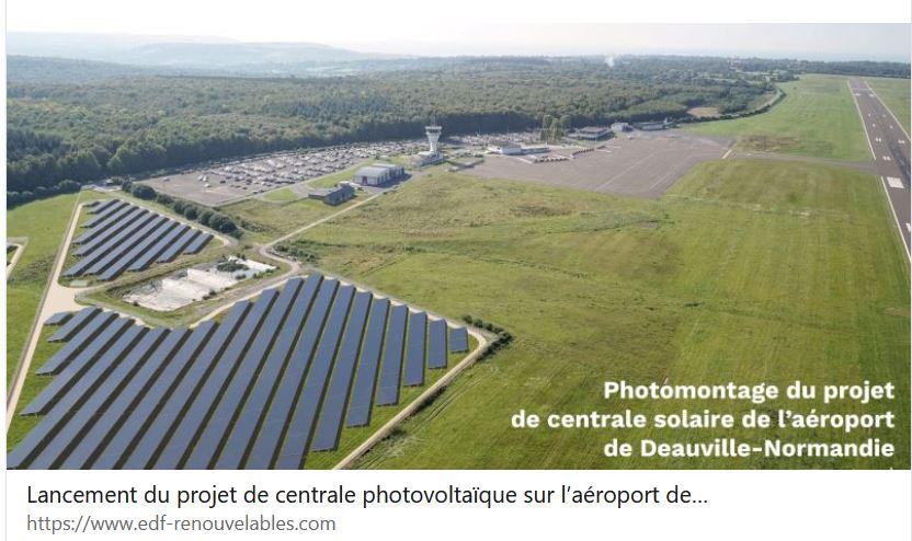 EDF Renouvelables lance le projet de centrale photovoltaïque sur l'aéroport de Deauville-Normandie
