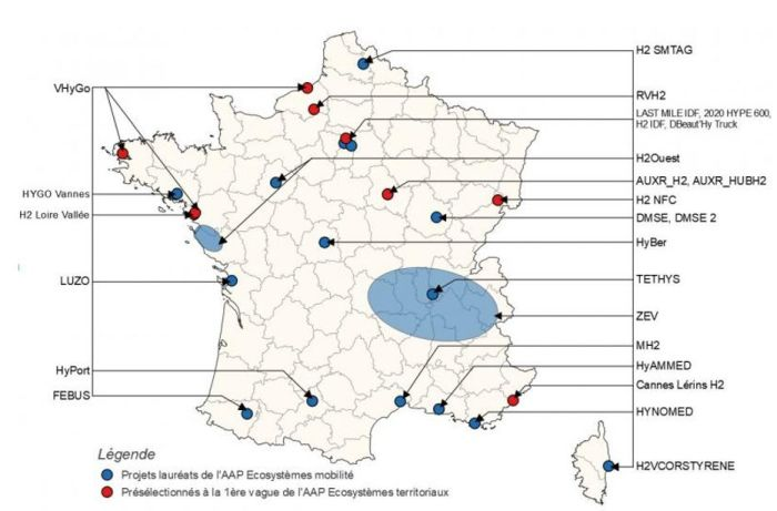 Appel à projets pour accélérer la production et les usages de l'hydrogène décarboné dans les territoires