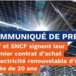 EDF et SNCF signent leur premier contrat d'achat d'électricité renouvelable d'une durée de 20 ans