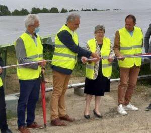 Inauguration de la centrale solaire de Guignen