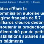 L'Europe autorise la France à accorder 5,7 milliards d'euros d'aides pour des installations solaires sur bâtiments jusqu'à 500 kWc