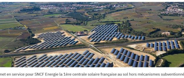 CVE met en service pour SNCF une centrale PV au sol de 5,5 MWc hors mécanismes subventionnés