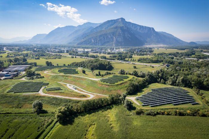 Inauguration du parc photovoltaïque au sol du site écologique de La Buisse