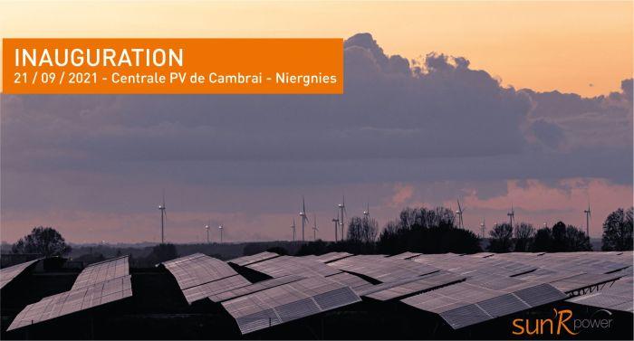 Sun'R Power inaugure une centrale PV sur l'ancienne base OTAN de Cambrai