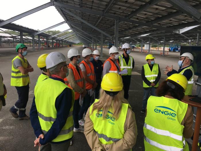 64 000 modules PV pour l'ombrière du parking de l'usine Stellantis de Sochaux