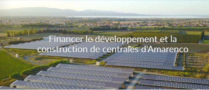 Amarenco lance une campagne de financement participatif pour 237 projets solaires