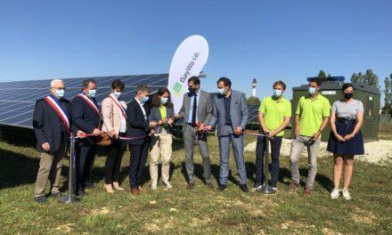 Inauguration du parc solaire de l'ancien camp militaire de la Martinerie